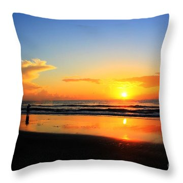 Sunrise Couple Throw Pillow by Dan Stone