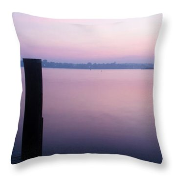 Sunrise Dock Throw Pillow
