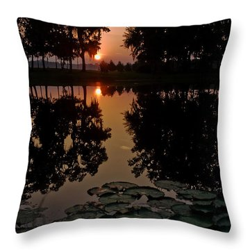 Sunrise From My Pad Throw Pillow by Dan Wells