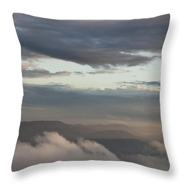 Sunrise In The Mountains Throw Pillow by Jeannette Hunt