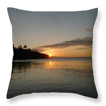 Sunrise On Superior Throw Pillow