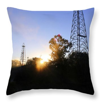 Sunrise On The Sabine Throw Pillow by Kathy  White