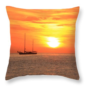 Sunrise On The Sea Of Cortez Throw Pillow by Roupen  Baker