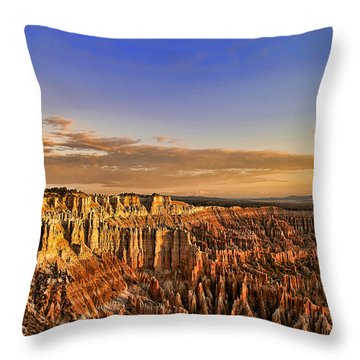 Throw Pillow featuring the photograph Sunrise Over The Hoodoos by Anne Rodkin