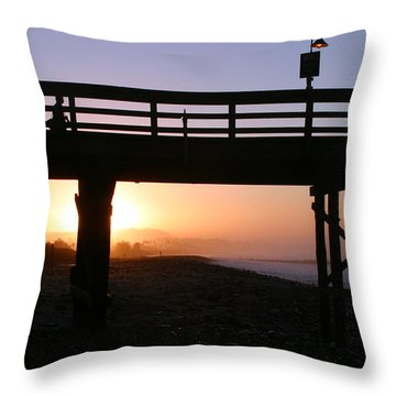 Sunrise Pier Ventura Throw Pillow