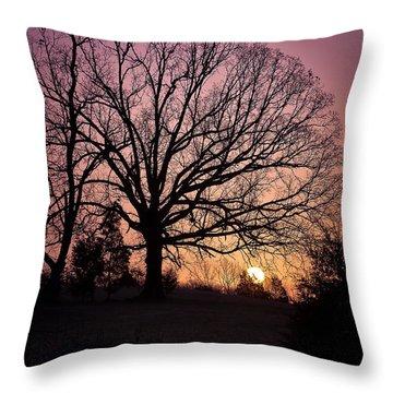 Sunrise Silhouette Throw Pillow