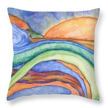 The Sunrise Throw Pillow