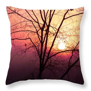 Sunrise Sunset Throw Pillow by Kim Fearheiley