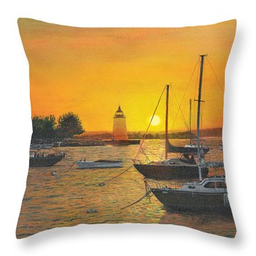 Sunrise Sunset Throw Pillow by Stuart B Yaeger