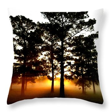 Sunrise3 Throw Pillow by Amber Stubbs