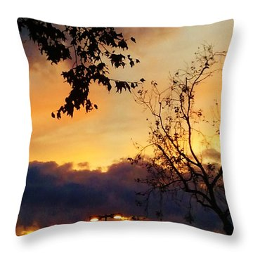 Throw Pillow featuring the photograph Sunset 2 by Jasna Gopic