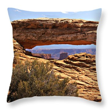 Sunset Arch Throw Pillow by Marty Koch