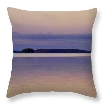 Sunset At Lake Muojaervi Throw Pillow by Heiko Koehrer-Wagner