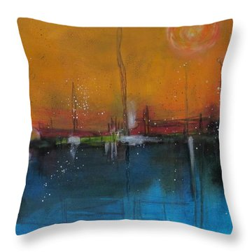 Sunset At The Lake # 2 Throw Pillow