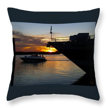 Sunset At The Shore Throw Pillow
