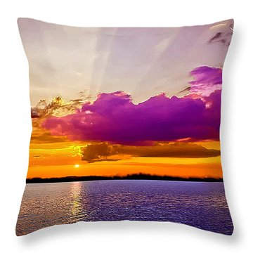 Sunset Throw Pillow by Bob and Nadine Johnston