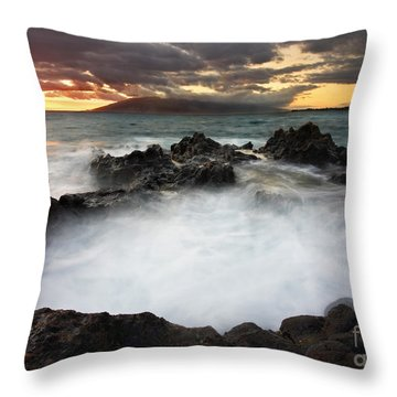 Sunset Boil Throw Pillow by Mike  Dawson