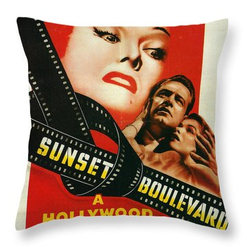 Sunset Boulevard Throw Pillow by Georgia Fowler