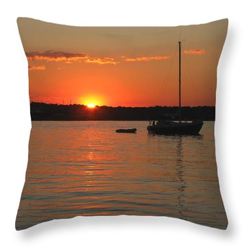 Throw Pillow featuring the photograph Sunset Cove by Clara Sue Beym