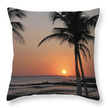 Throw Pillow featuring the photograph Sunset by David Gleeson