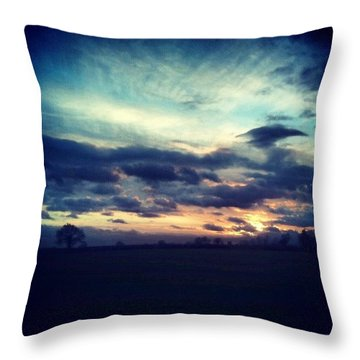 Sunset Drama Throw Pillow