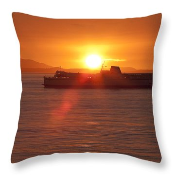 Sunset Throw Pillow by Eunice Gibb