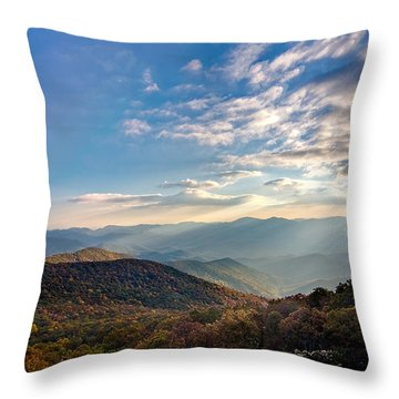 Throw Pillow featuring the photograph Sunset From The Bald by Dan Wells