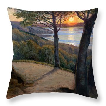 Sunset Throw Pillow by Hans Agersnap