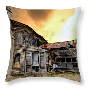 Sunset Homestead Throw Pillow by Marty Koch