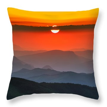 Sunset In Balkans Throw Pillow