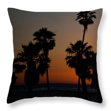 sunset in Califiornia Throw Pillow by Ralf Kaiser