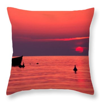 Throw Pillow featuring the photograph Sunset In Elba Island by Luciano Mortula