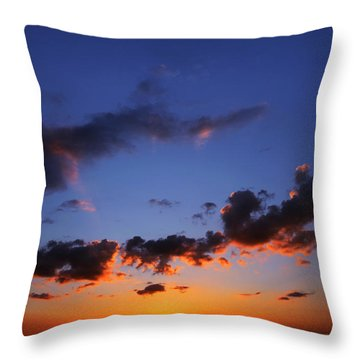 Sunset In Ithaca New York Throw Pillow by Paul Ge