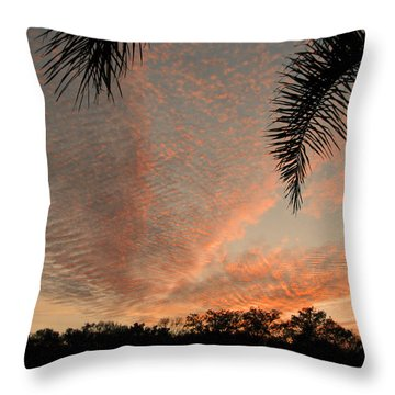 Sunset In Lace Throw Pillow