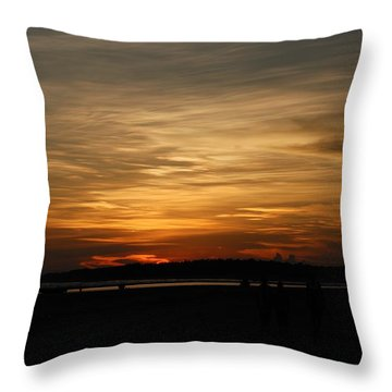 Throw Pillow featuring the photograph Sunset In Pastels by Fotosas Photography
