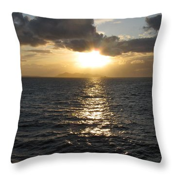 Sunset In The Black Sea Throw Pillow by Phyllis Kaltenbach
