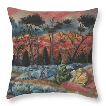 Sunset In The Cheatgrass Throw Pillow