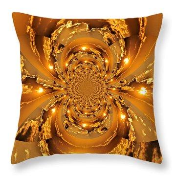 Sunset Kaleidoscope 4 Throw Pillow by Marty Koch