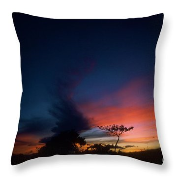 Sunset Leeward Oahu Throw Pillow by Mark Gilman