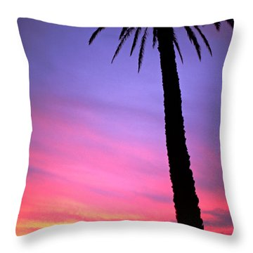 Throw Pillow featuring the photograph Sunset by Luciano Mortula