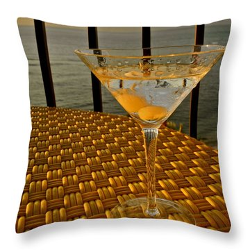 Sunset Martini In Maui I Throw Pillow by Kirsten Giving