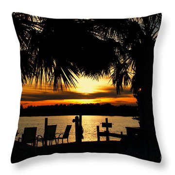 Sunset Memories Throw Pillow by Benanne Stiens