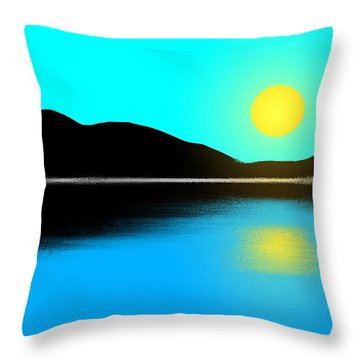 Sunset No. 2 Throw Pillow by George Pedro