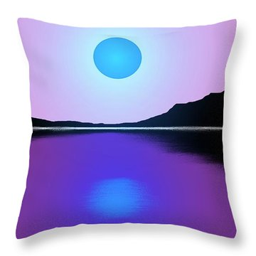 Sunset No. 4 Throw Pillow by George Pedro