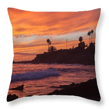 Sunset Off Laguna Beach Throw Pillow