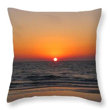 Sunset On Longboat Key Throw Pillow by Loretta Luglio