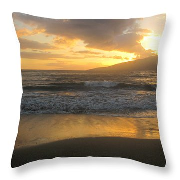 Sunset On Maui Throw Pillow