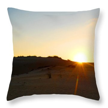 Sunset On The Dunes Throw Pillow by Linda Mesibov