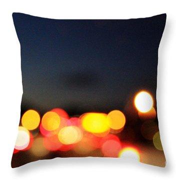 Sunset On The Golden Gate Bridge Throw Pillow by Linda Woods