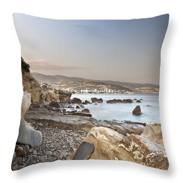 Sunset On The Mediterranean Throw Pillow by Joana Kruse